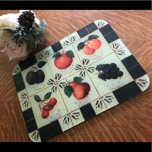 Glass cutting board; tempered, d/w safe